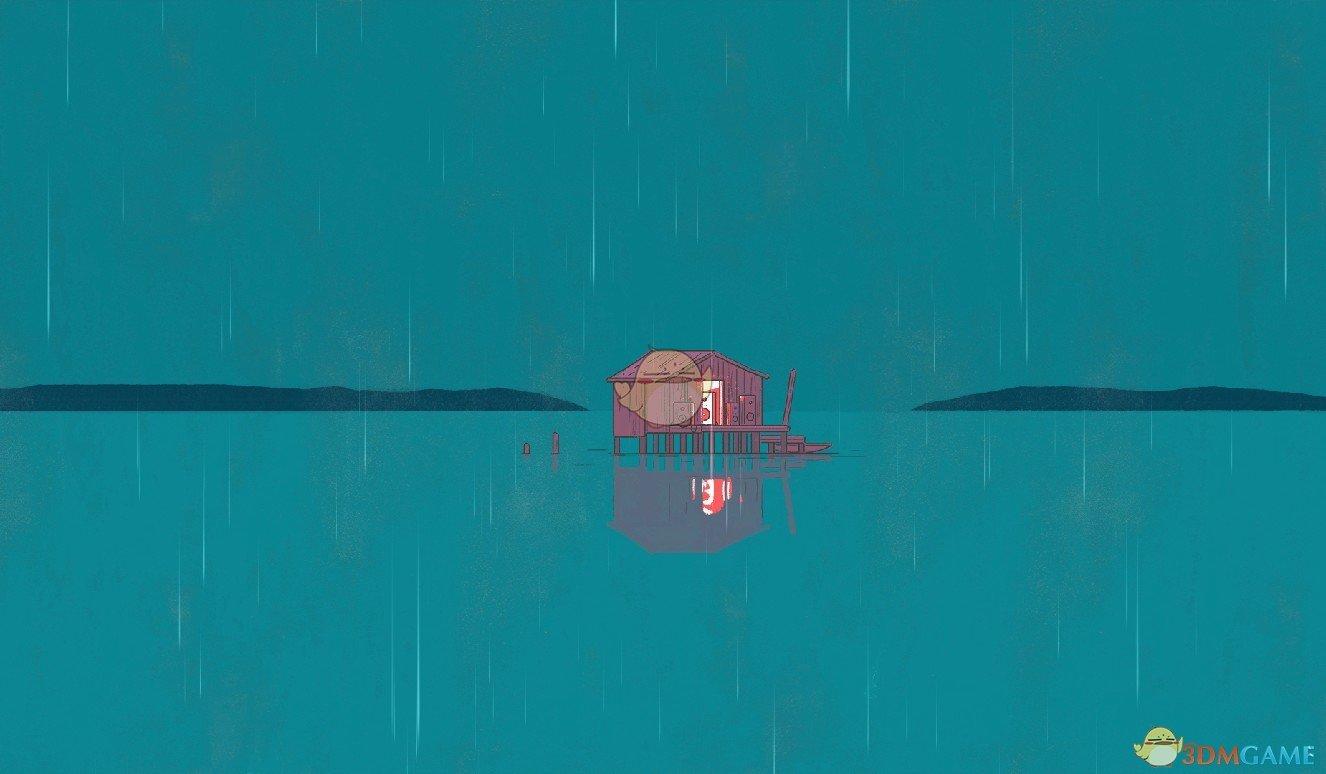 《Wallpaper Engine》手绘风湖上小屋动态壁纸