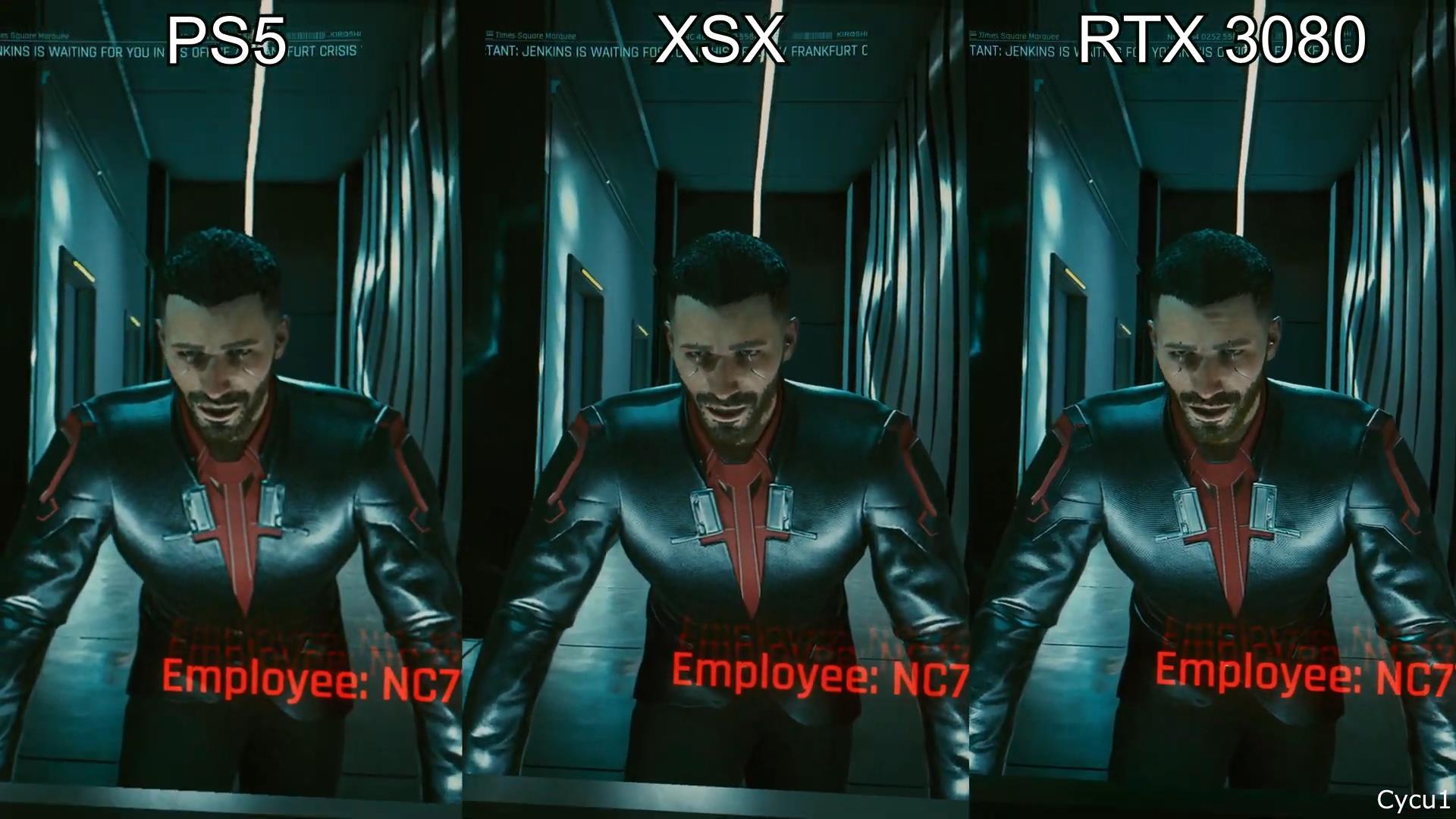 《赛博朋克2077》PS5/XSX/PC RTX3080对比 谁更棒