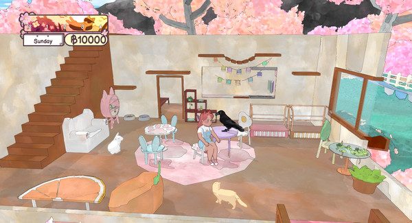 休闲游戏《撸猫模拟器》现已登陆Steam 支持简体中文