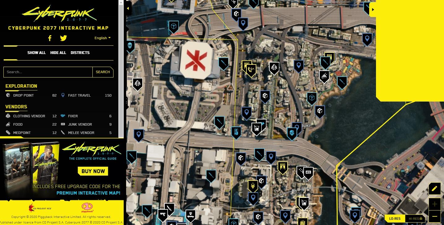 《赛博朋克2077》官方互动地图推出 可查询支线事件等