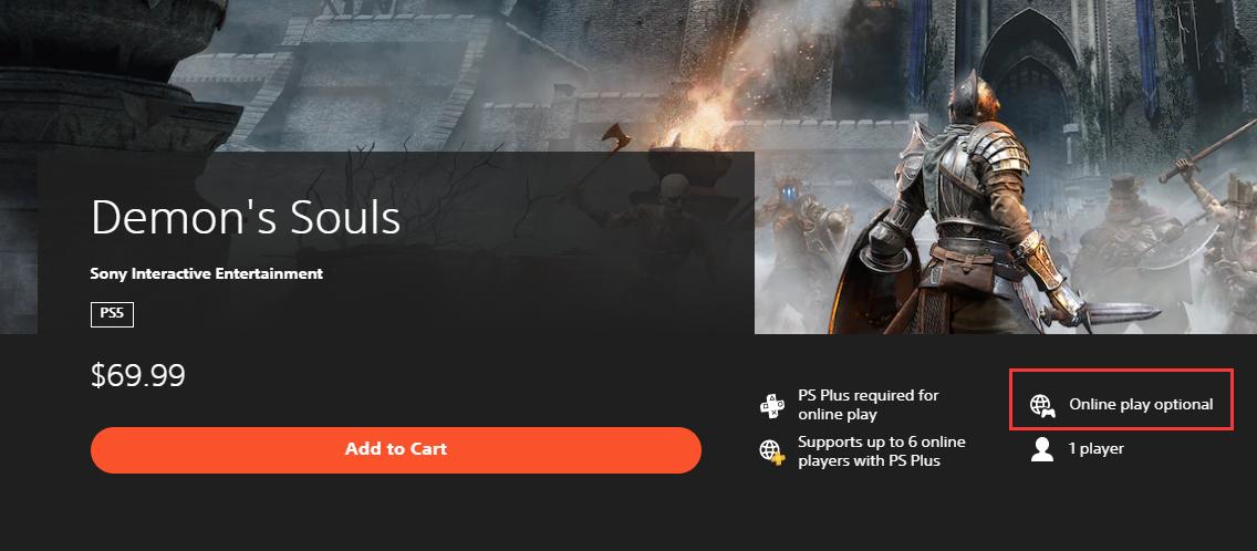 PS商店页面显示《死亡循环》或需要全程联网游玩