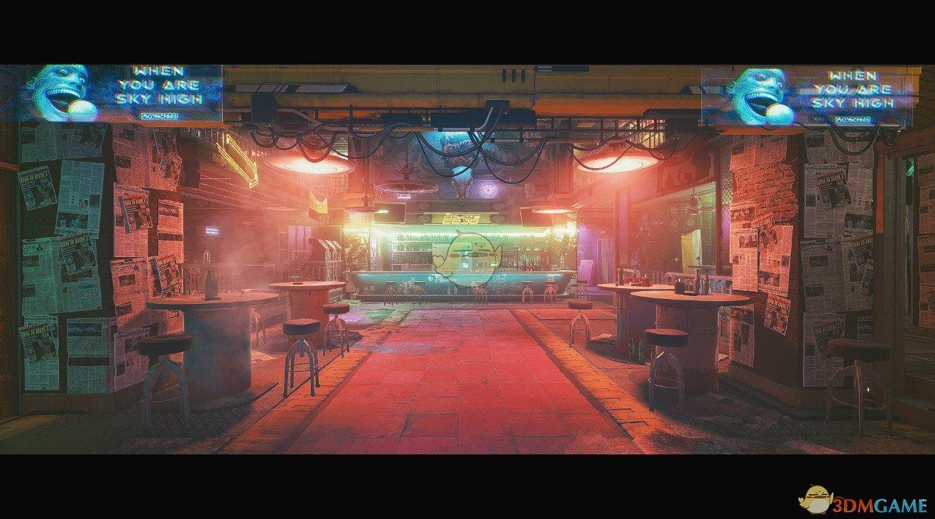 《Wallpaper Engine》赛博朋克2077咖啡馆动态壁纸