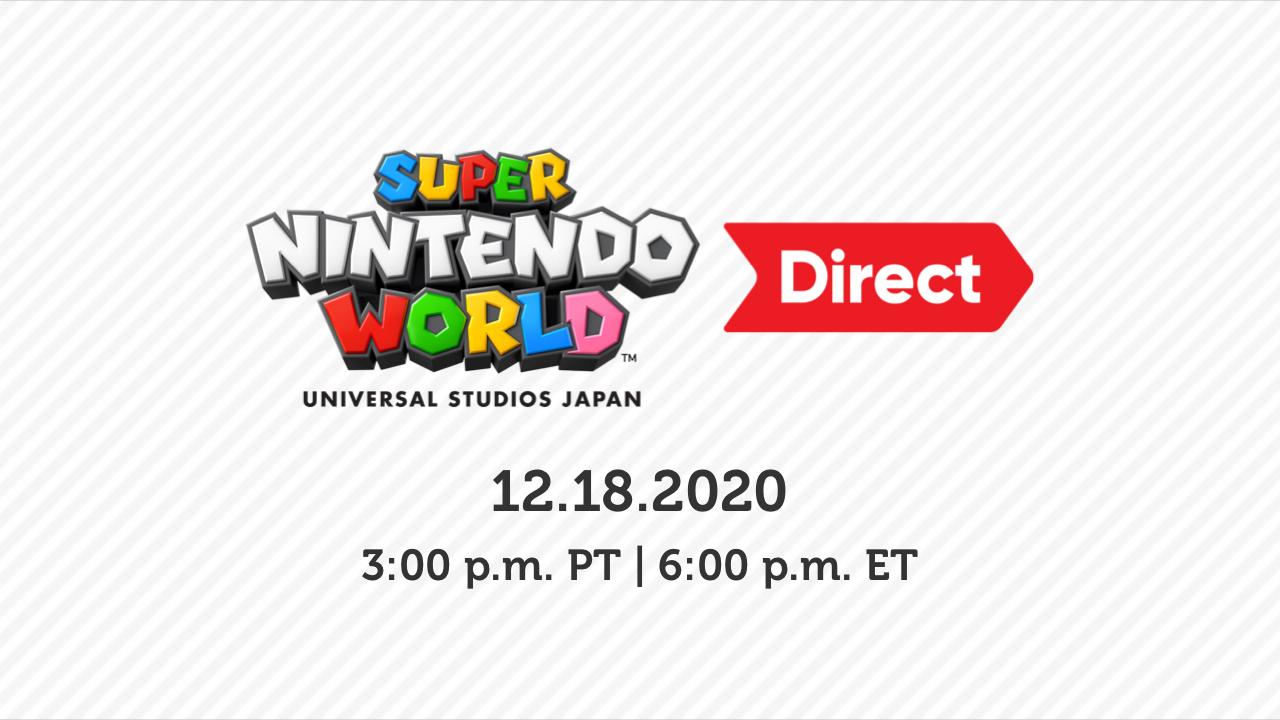 任天堂明日举办直面会 介绍超级任天堂世界主题乐园