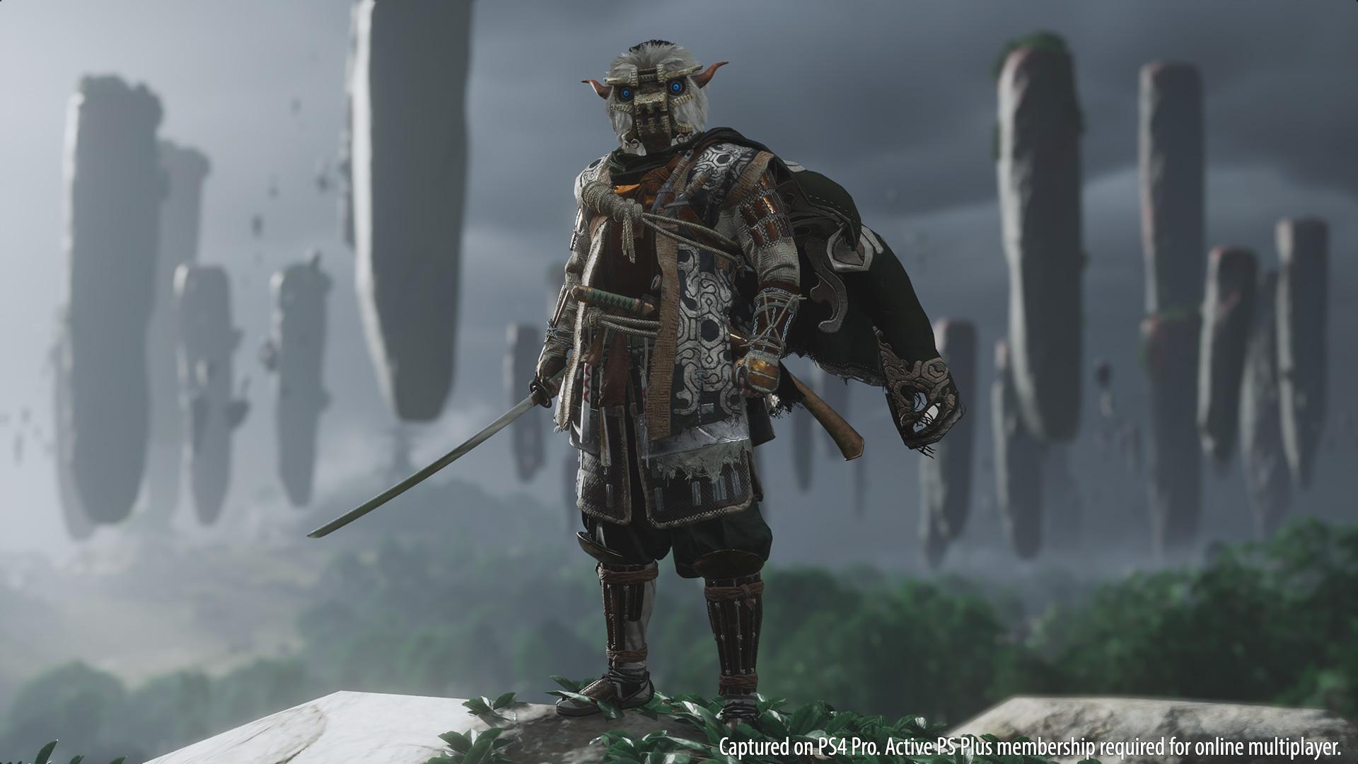 《对马岛之鬼》公布新服装 索尼四大形象乱入