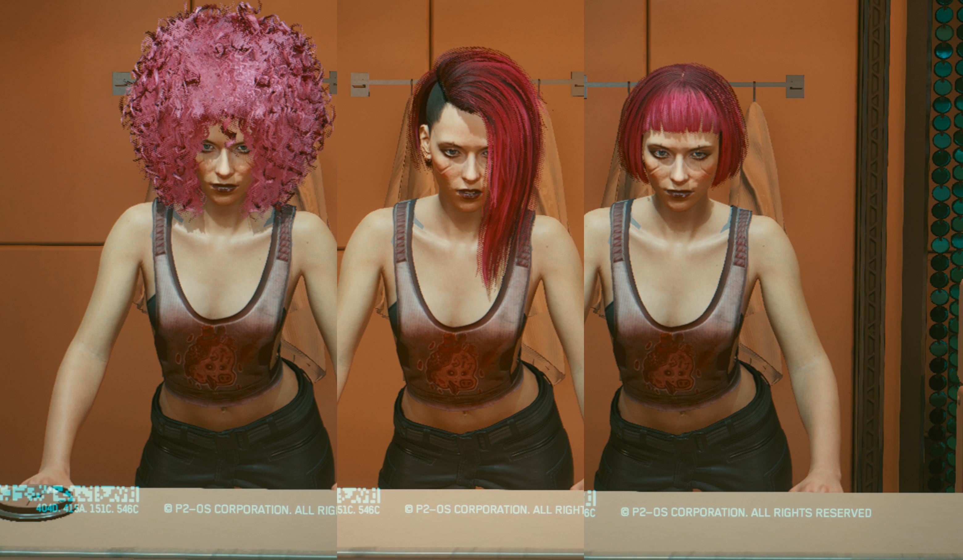玩家自制《赛博朋克2077》角色发型修改MOD