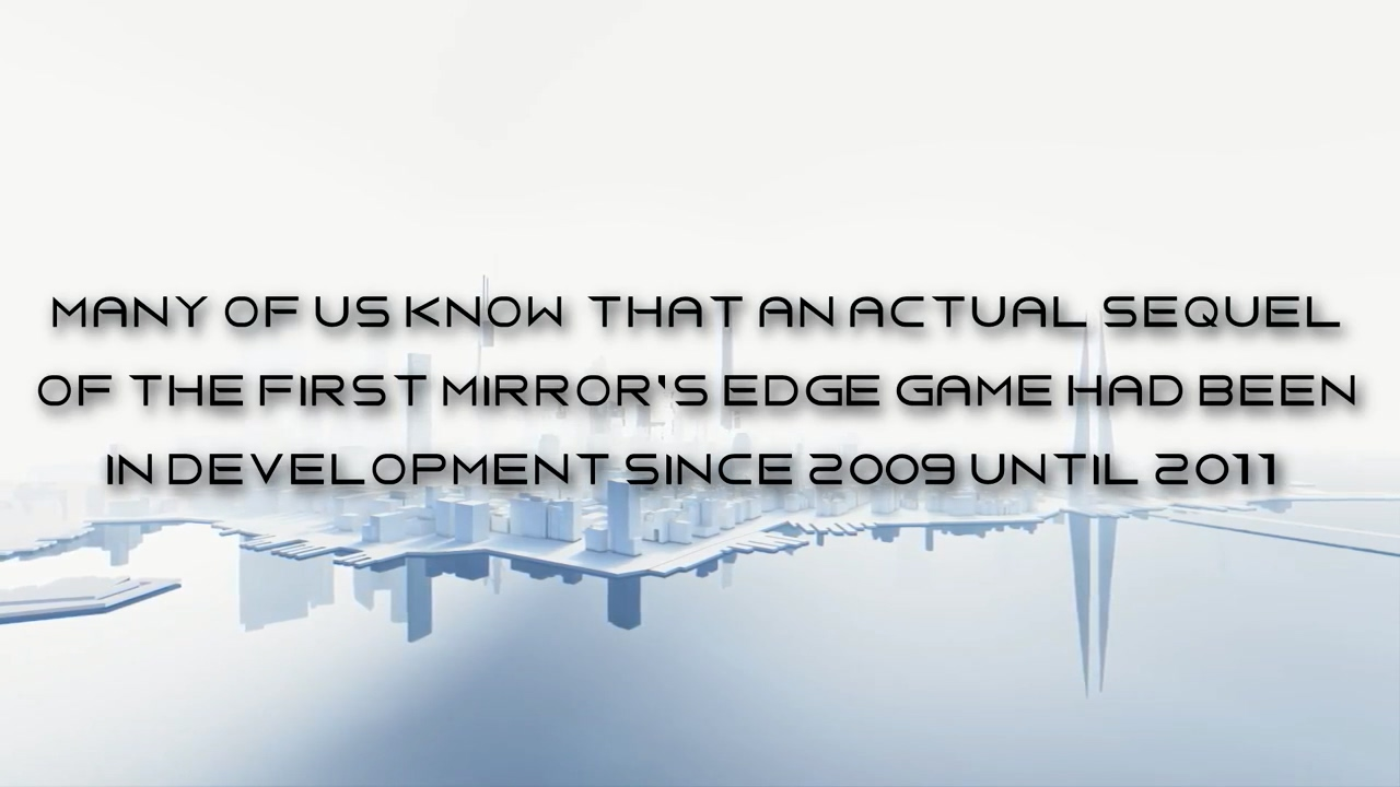 DICE 2011年开发了《镜之边缘2》 但被EA取消