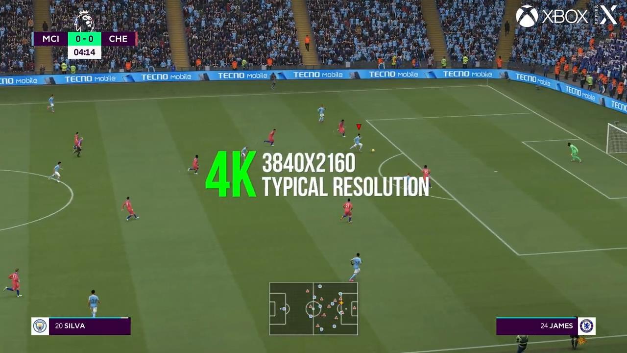 《FIFA21》次世代与本世代版画面对比 画面更逼真