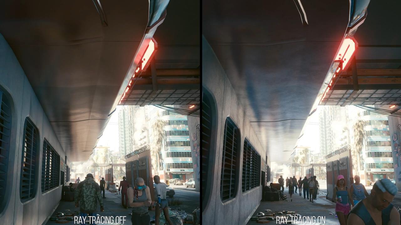 数毛社《赛博朋克2077》PC光追测试 画面美但帧数低