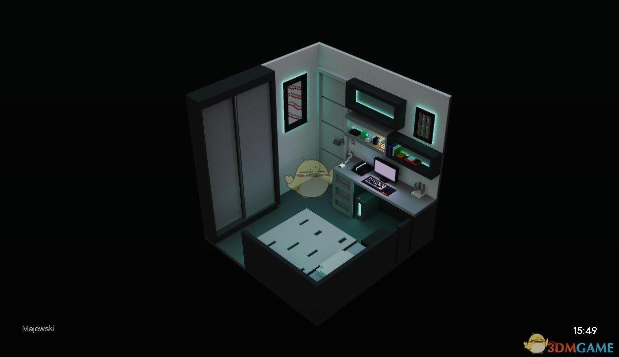 《Wallpaper Engine》迷你方块房间3D场景动态壁纸