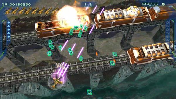 彩京经典射击游戏《零式战机2》现已在Steam推出
