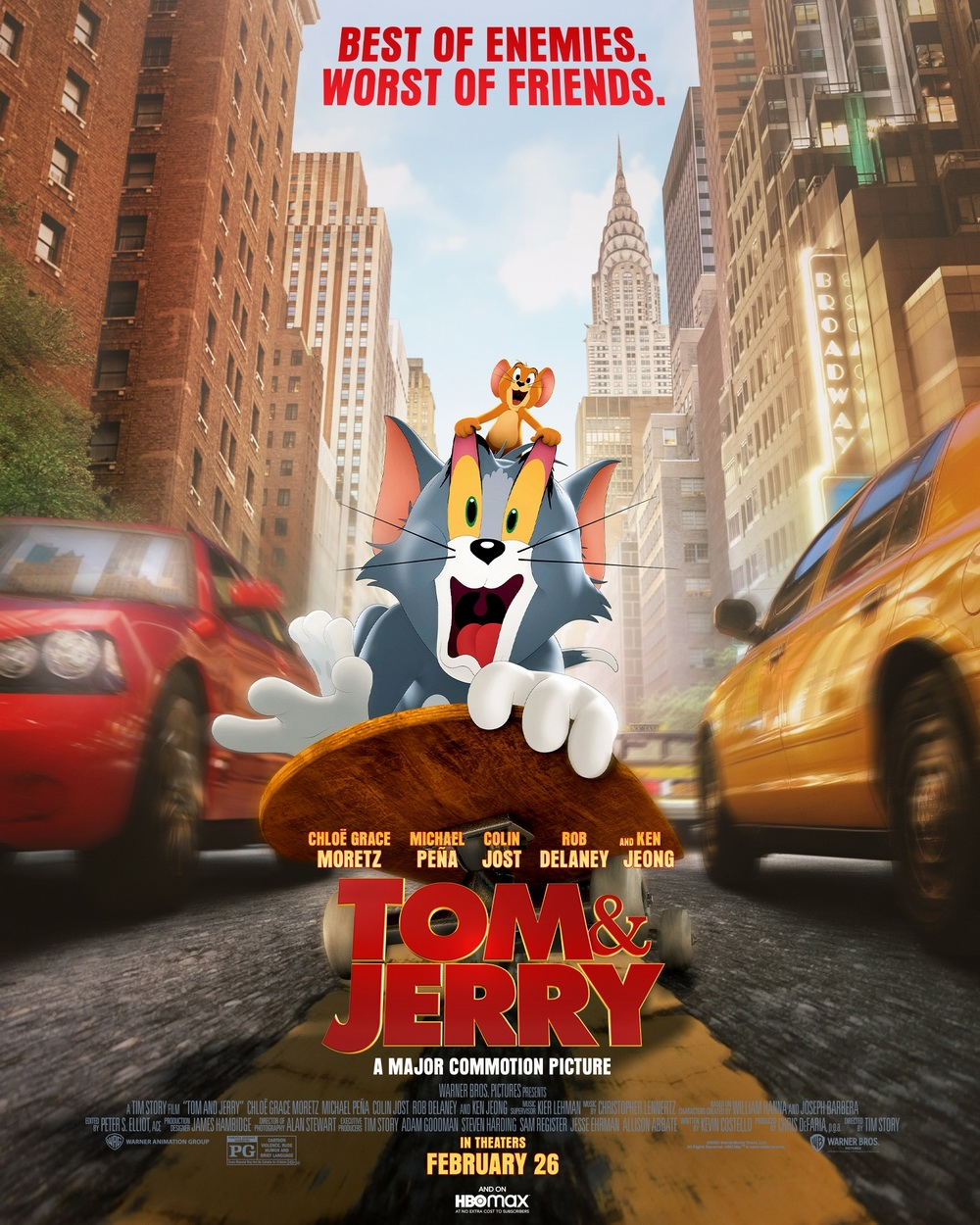 真人版《猫和老鼠》电影新海报 汤姆和杰瑞亮相