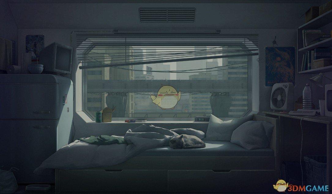 《Wallpaper Engine》未来胶囊房的雨中午后动态壁纸