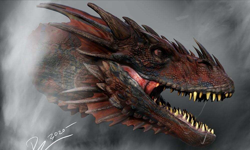 《权力的游戏》前传新概念图曝光 巨龙凶悍恐怖