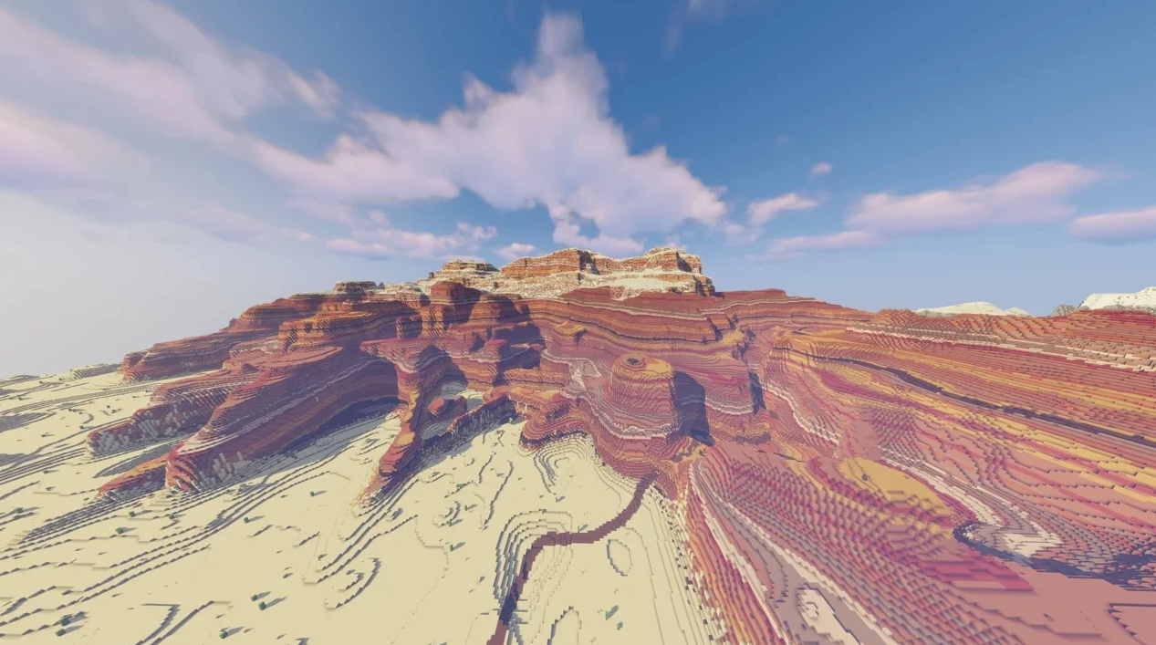 玩家在《我的世界》中还原《旷野之息》海拉尔大陆