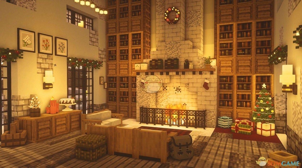 《Wallpaper Engine》我的世界圣诞壁炉屋动态壁纸