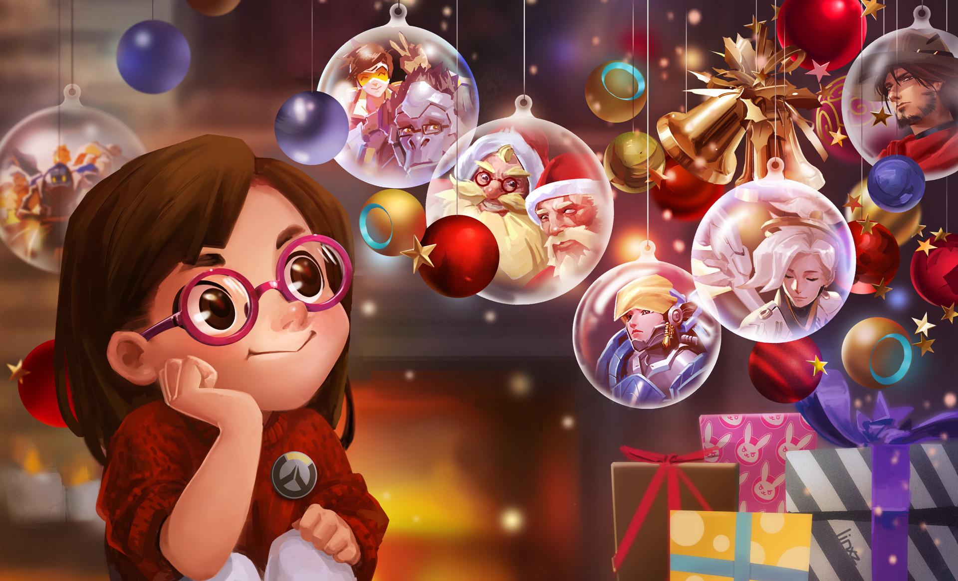 《守望先锋》官方发布圣诞贺图 英雄集结同庆佳节