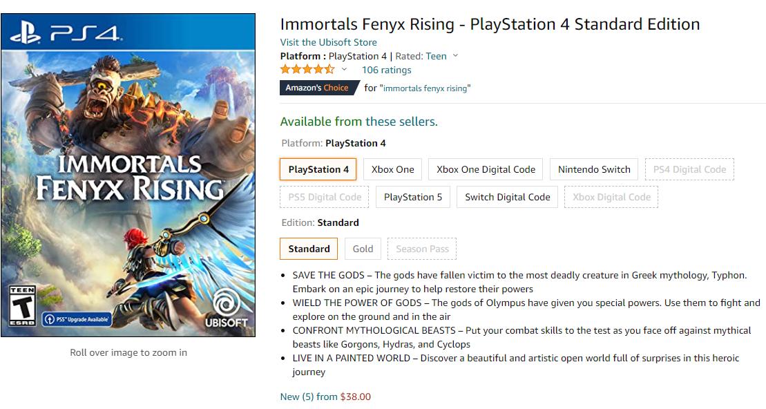 上市不足一个月《渡神纪:芬尼斯崛起》售价已腰斩