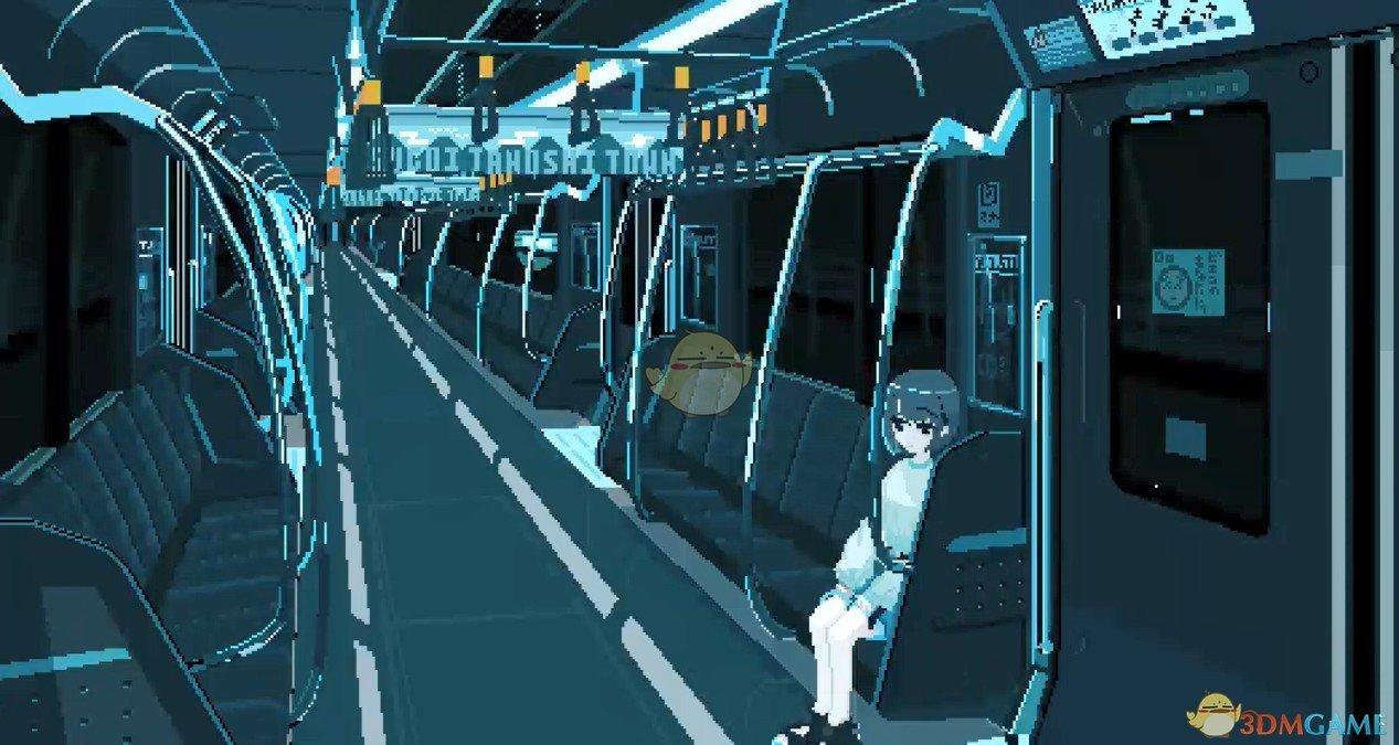 《Wallpaper Engine》少女孤独的乘坐地铁像素风动态壁纸