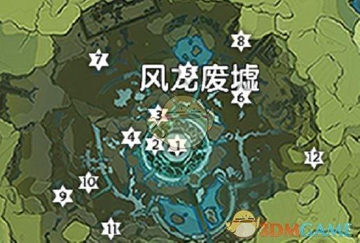 《原神》风龙废墟风神瞳地图分享