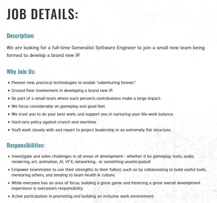 Respawn似乎準備打造全新IP 需招募通才軟件工程師