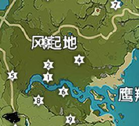 《原神》风起地风神瞳位置地图分享
