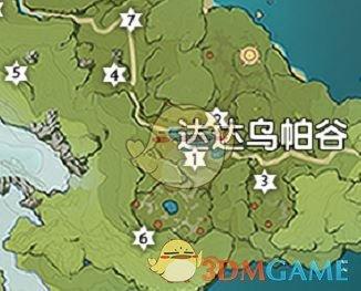 《原神》达达乌帕谷风神瞳位置地图分享