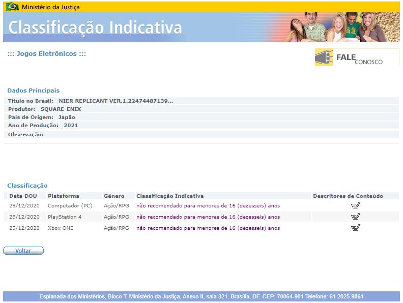 《尼尔:伪装者ver.1.22474487139...》通过巴西分级
