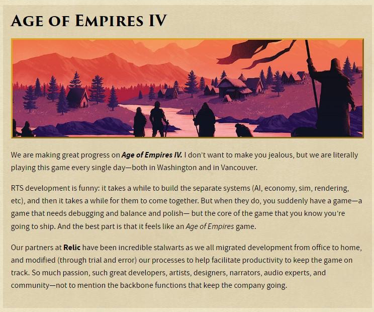 《帝国时代4》现已处于可玩状态 正在打磨和平衡性调整阶段