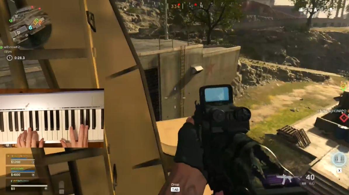 钢琴手干员? 玩家用钢琴游玩《使命召唤:战区》
