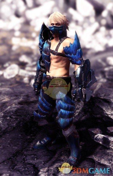 《怪物猎人:世界》赤膊版岩贼龙套装MOD