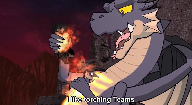 沙雕动画组推出《怪猎》系列新曲 黑龙狂虐猎人