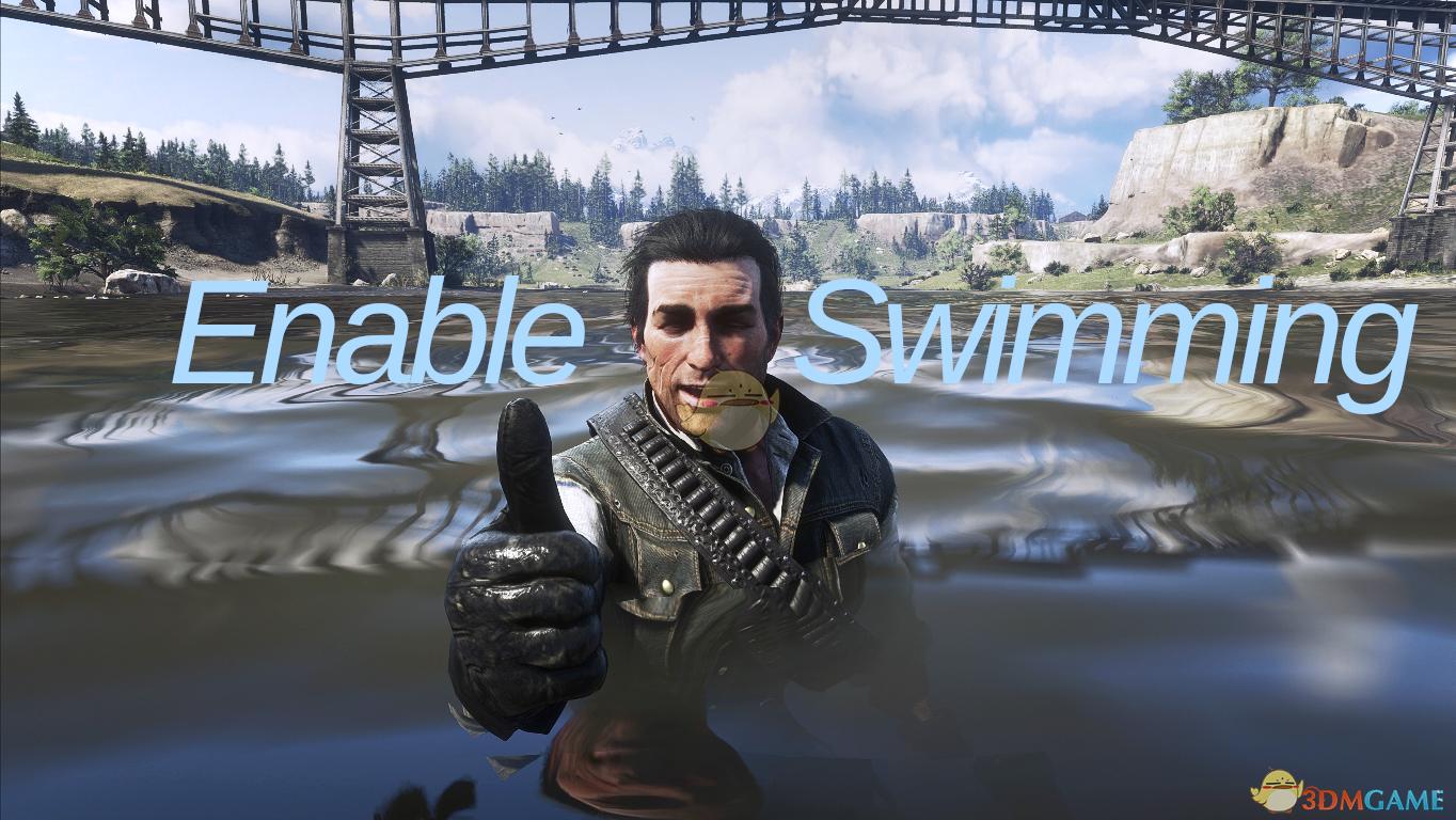 《荒野大镖客2》约翰可以游泳MOD