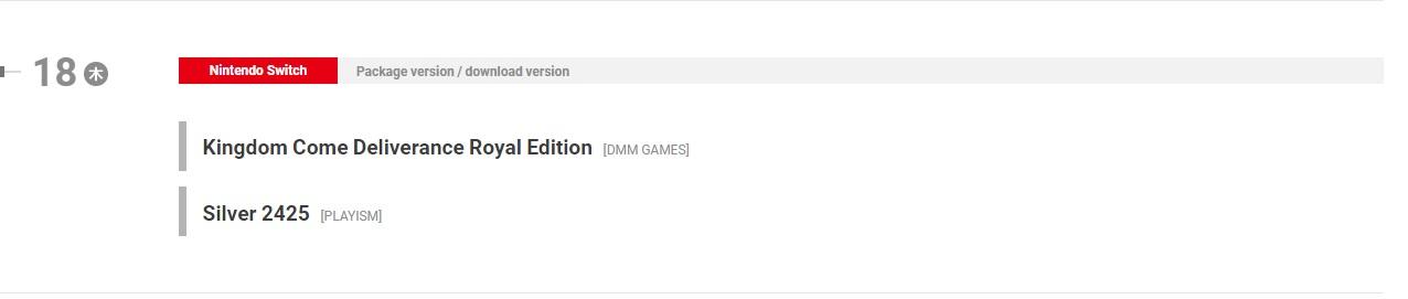 《天国:拯救》即将移植到Switch平台 2月18日发售