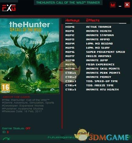 《猎人:荒野的呼唤》v1939208十五项修改器[FutureX]