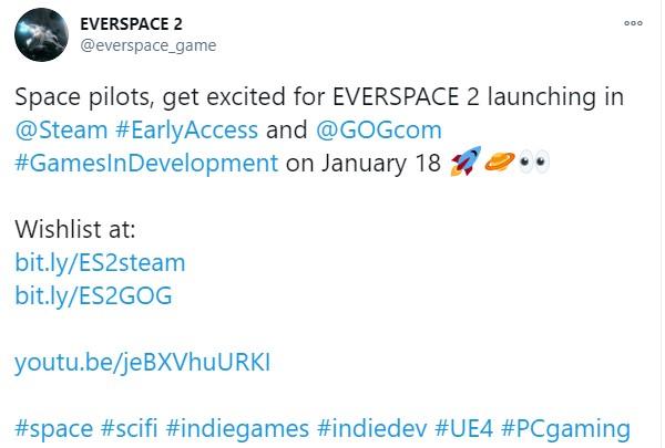 《永恒空间2》EA版1月18日推出 登陆Steam和GOG