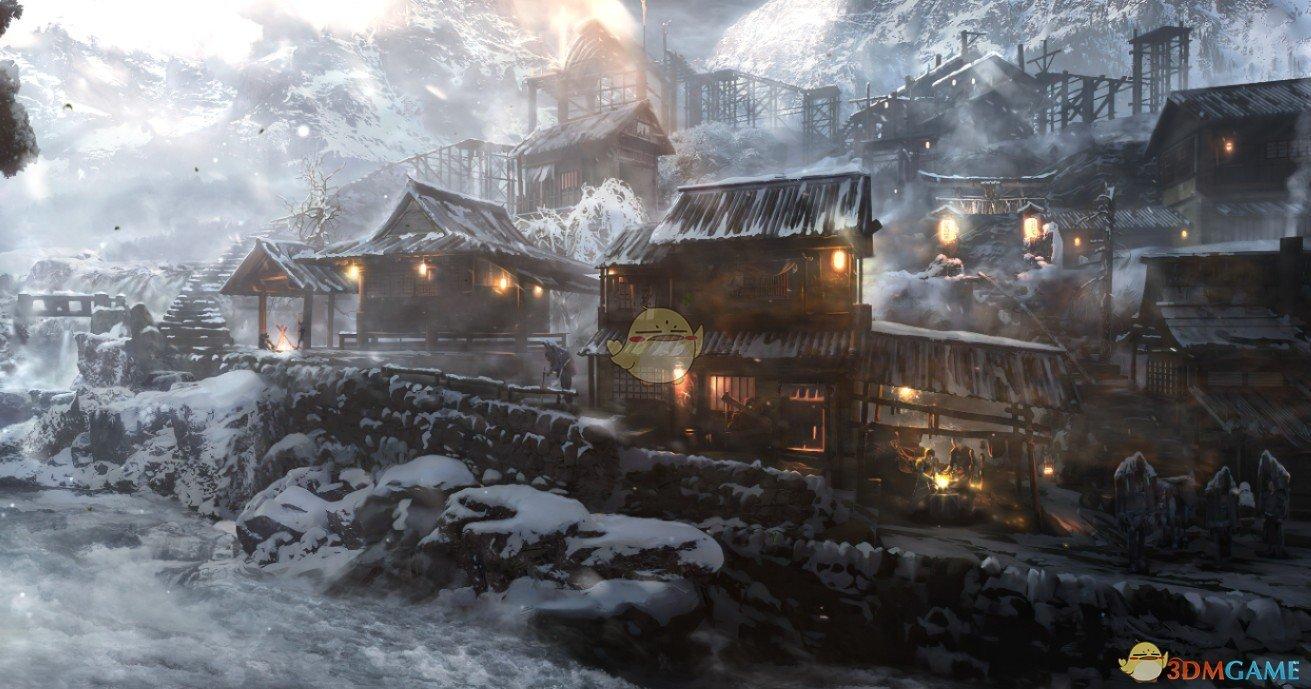 《Wallpaper Engine》冬季小村庄鼠标互动动态壁纸
