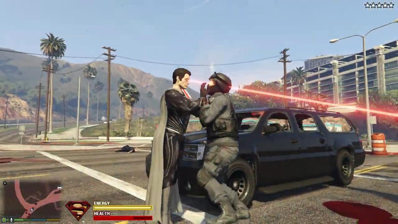 《侠盗猎车5》终极超人Mod发布 肆意飞行杀戮