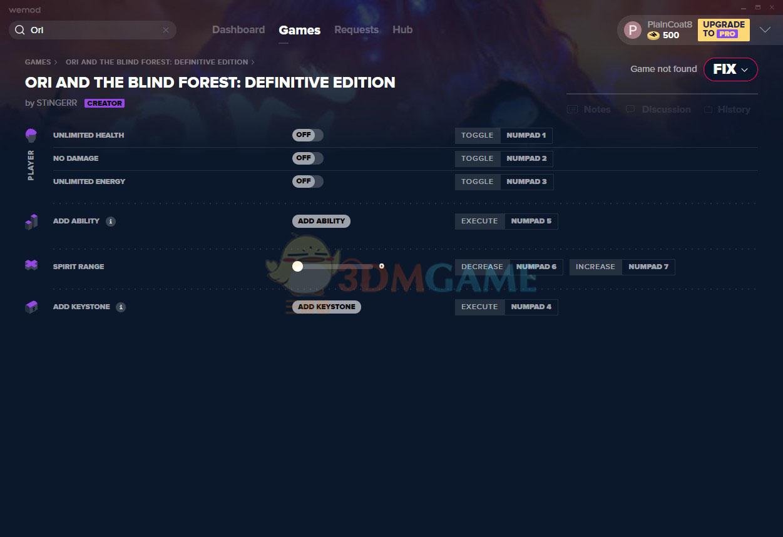 《奥日与黑暗森林:终极版》v2021.01.07六项修改器[MrAntiFun]