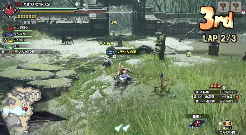 玩家举办《怪物猎人:崛起》牙猎犬竞速赛!建议单独整一个