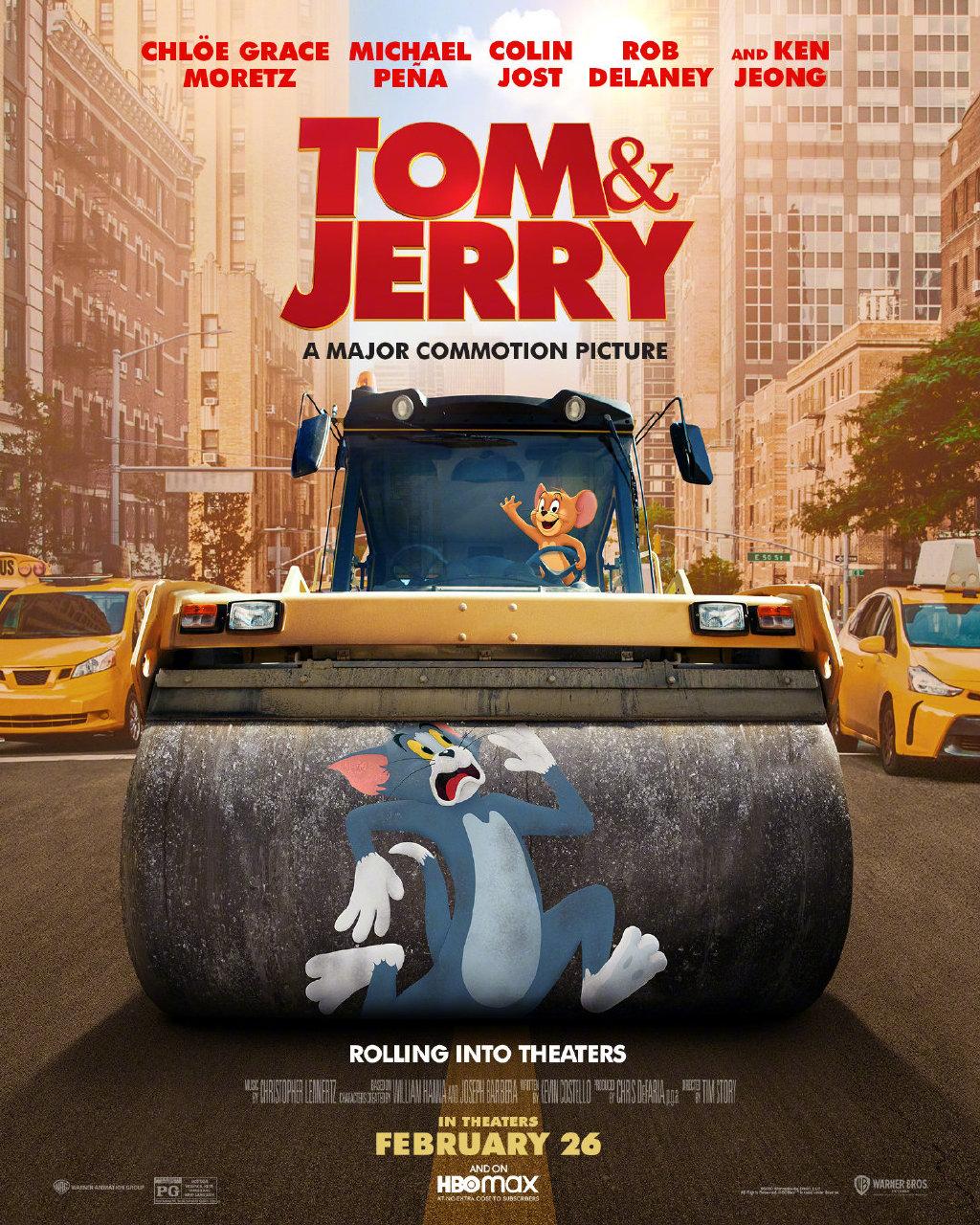 真人版《猫和老鼠》电影新海报 汤姆被捏扁搓圆