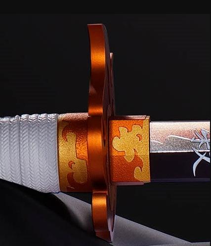 《鬼灭之刃》杏寿郎日轮刀全比例模型 制作精良搭多种音效