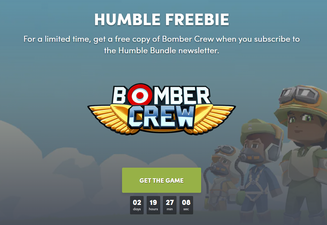 HumbleBundle免费赠送好评模拟游戏《轰炸机小队》