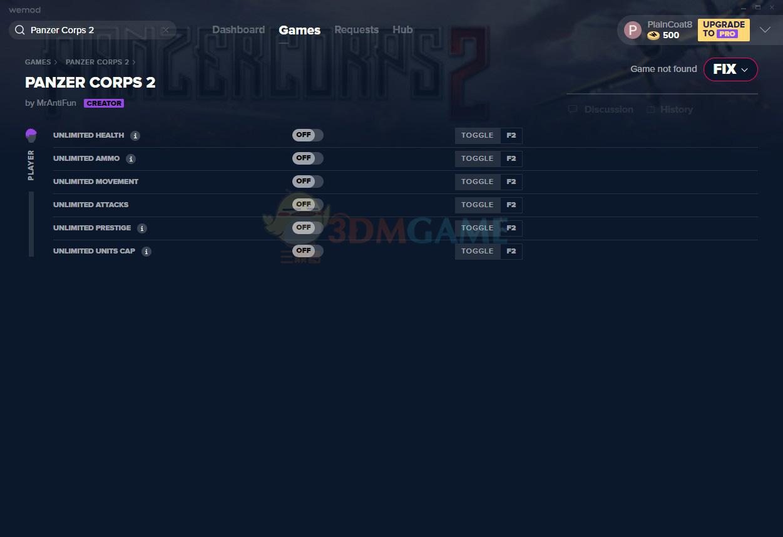 《装甲军团2》v2021.01.14六项修改器[MrAntiFun]
