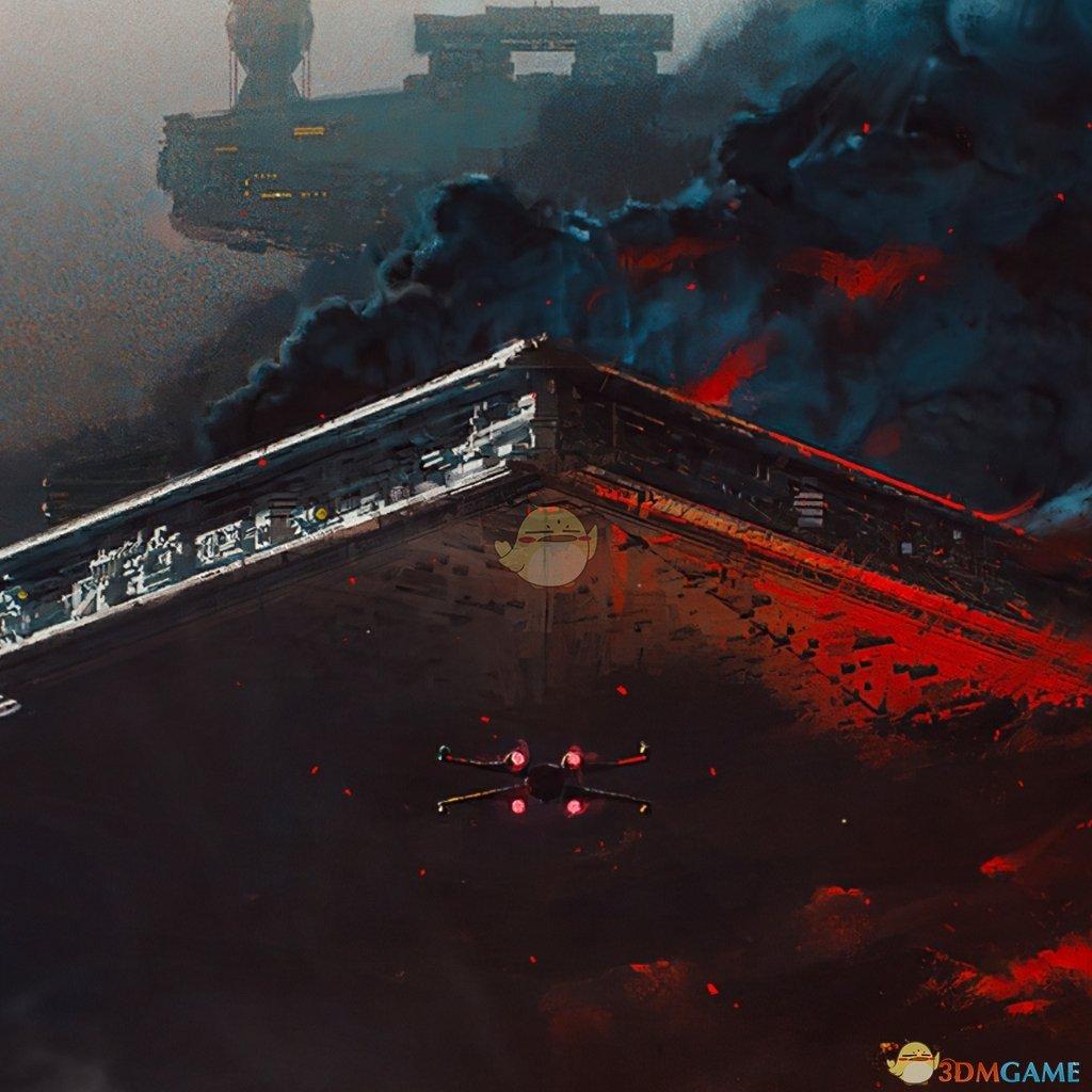 《Wallpaper Engine》驶出黑雾的巨型飞船动态壁纸