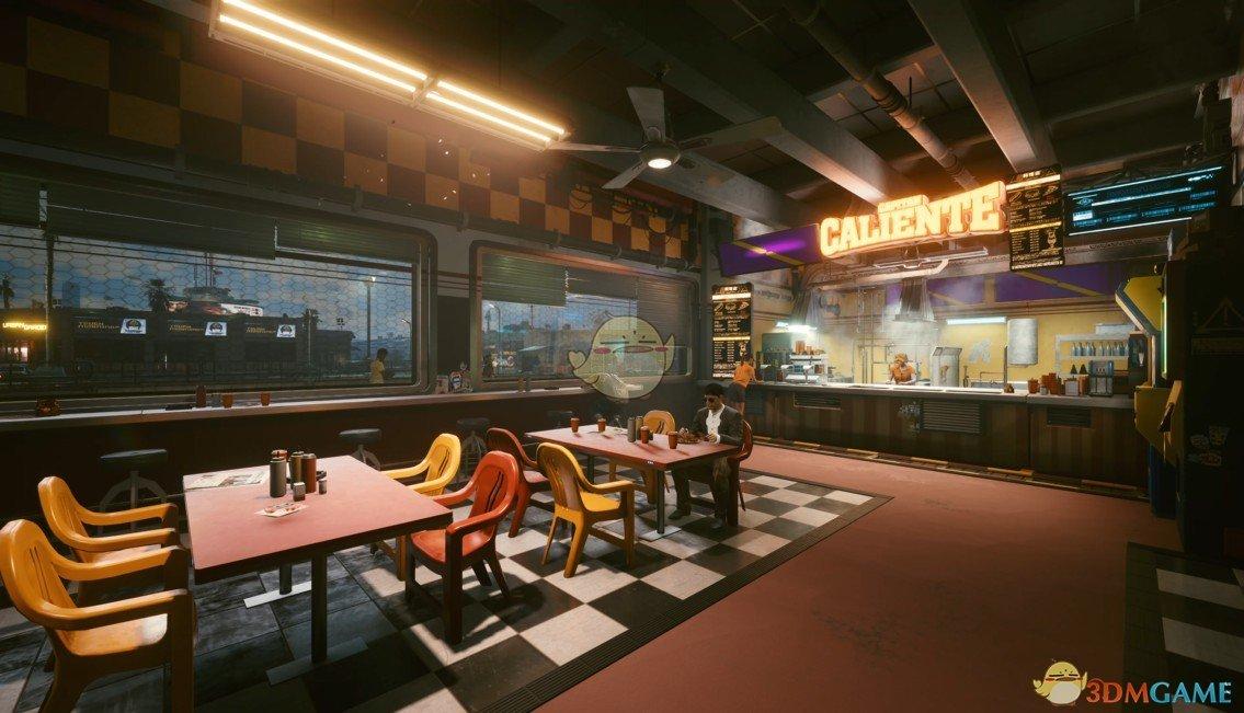 《Wallpaper Engine》赛博朋克2077餐馆游戏场景动态壁纸
