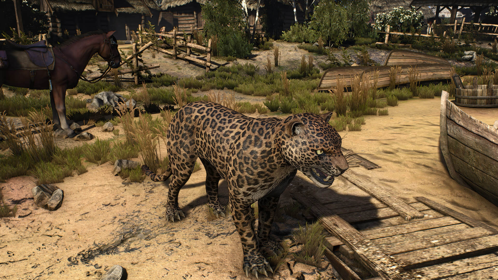 《巫师3》动物高清Mod 猫鸡牛等变得栩栩如生