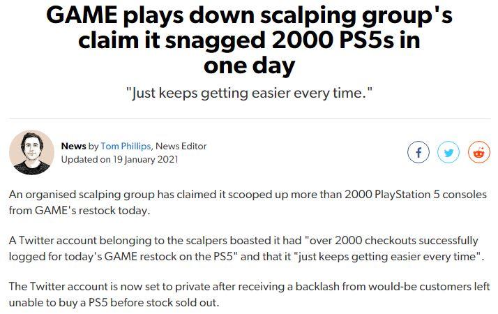 黄牛团队一天抢到2000台PS5主机 笑称抢购越来越简单