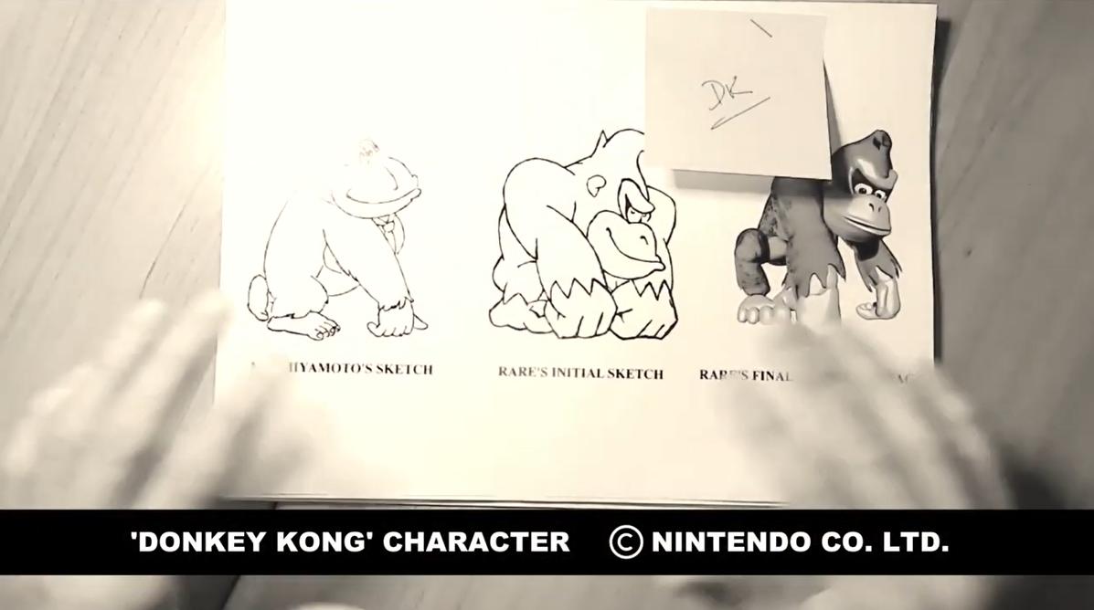 原设计师展示任天堂《超级大金刚》原始设计草图