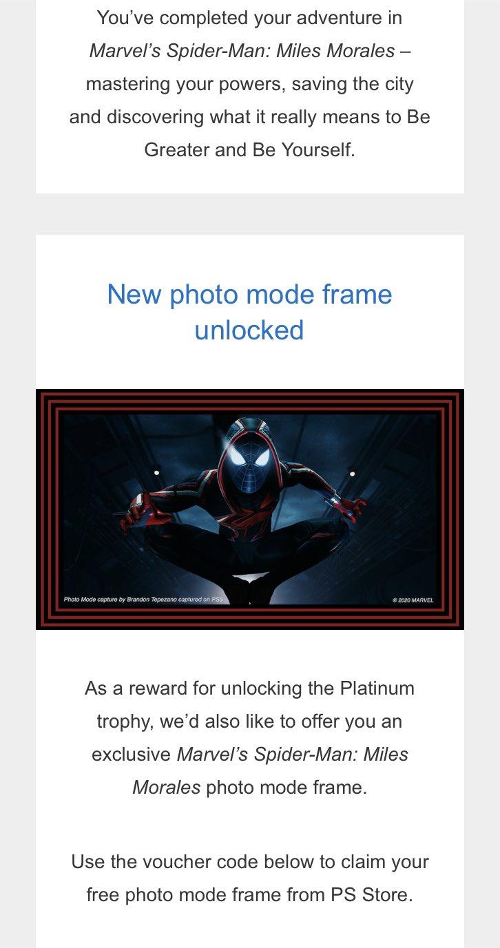 开发商为《漫威蜘蛛侠》白金奖杯玩家送上独占礼物