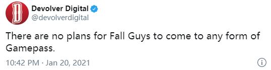 《糖豆人:终极淘汰赛》官方确认将不会加入XGP
